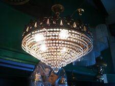 NOS 80s Vintage Swarovski Strass Crystals Chandelier pendant lamp Austria light