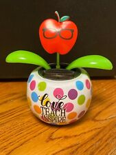 Solar Powered Dancing Apple Bobblehead Toy - TEACHER - Love Teach Inspire