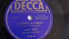 Chick Webb - 78rpm single 10-inch – Decca #1840 A-Tisket A-Tasket