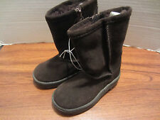 Toddler Little Girls Brown Suede Look Boots Size 12