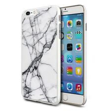 Grey White Marble Design Shockproof Hard Case Cover For Mobiles