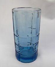 ANCHOR HOCKING TARTAN BLUEBERRY 16 OZ ICE TEA TUMBLER GLASS