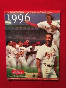 1996 MLB St. Louis Cardinals postseason media guide / Jordan / Lankford / Smith