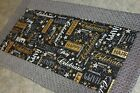 Black happy Celebrate 25 X 12 Handmade Quilted Table Runner Topper