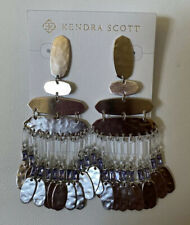 NWT Kendra Scott Nicola Drop Statement Earrings in Silver Lilac $175.00