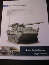 Stryker Family of Vehicles Data Sheet General Dynamics / New