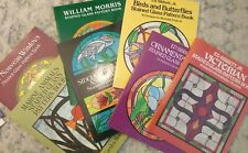 15 Stained Glass pattern books, used, good condition