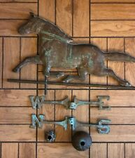 Vintage Antique Running Horse Weather Vane Copper Cupola Weathervane        (ms)
