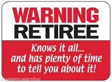 funny man cave sign plastic warning retiree gift great living room work shop gag