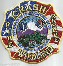 """ARMY - Ft. Lewis - C.F.R. / Wildland - 2005, WA  (4.5"""" x 4.5"""" size) fire patch"""