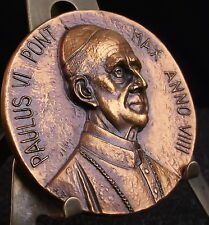 * Médaille Pape Pope Papa Paul Paulus VI Anno VIIII Cognoscunt me meae Medal 铜牌