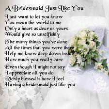 buy bridesmaid poem ebay