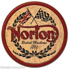 Vintage Replica Tin Metal Sign poster Norton Motorcycle bike Parts round hd 1705