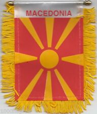 Macedonia Flag Hanging Car Pennant for car Window or Rearview Mirror