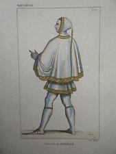 GRAVURE COULEUR 19è JEHAN SIRE DE JOINVILLE XIII SIECLE