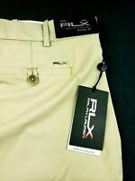 RLX Ralph Lauren Performance Stretch Golf Shorts Khaki Sz 32, 34, 35, 36, 38
