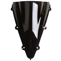 Black Windshield Screen Fit For 04 2005 2006 YAMAHA YZF-R1 YZF 1000 Dual Bubble