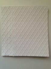 10 Blank Black & White Embossed A6 Mats + Tags - Scroll Frame & Diamonds