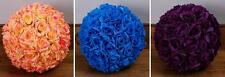Royal Blue Rose Flower Pomander Wedding Kissing Ball 6 inches Usa Seller