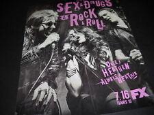 DENIS LEARY Once A Heathen... SEX & DRUGS & ROCK & ROLL Promo Poster Ad MINT CON