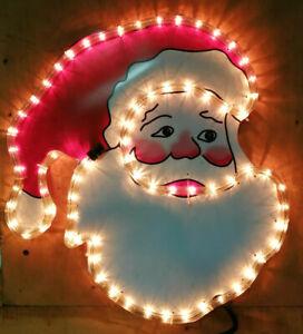 Père Noël LED Moranduzzo Lumière Chaude Enseigne IP44 Silhouette