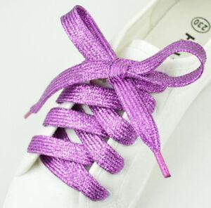 Stylish Glitter Sparkle Flat Shoe Laces (light purple )