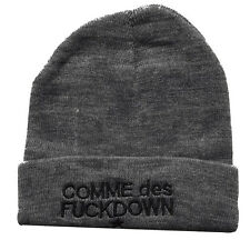 Hip Hop chic COMME DES FUCKDOWN Knitting Wool Beanie Hat Winter Warm Cap Gray