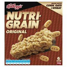 Kellogg's Nutri-Grain Original Cereal Snack Bars 6 pack 144g