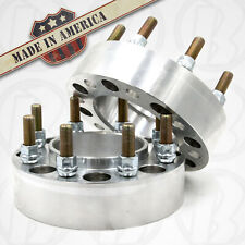 """USA MADE 8 Lug 6.5"""" CHEVY HUB CENTRIC Wheel Spacer/adapt. 2"""" Thick W/Studs &nuts"""