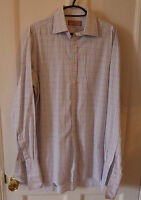 Mens Thomas Pink long sleeve Double cuff shirt Size 15.5
