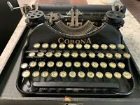 ANTIQUE CORONA  TYPEWRITER  SERIAL # 6K07915 - w/ORIG. CASE Make Offer!