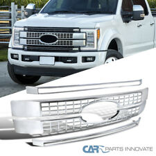 17-18 Ford F250 F350 F450 Super Duty Chrome Platinum Hood Grille Grill Moulding