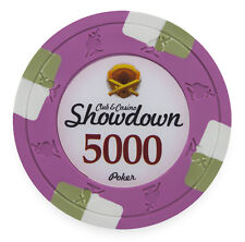 "25 ct Pink $5000 5k Five Thousand Dollars ""Showdown"" Series 13.5g Poker Chips"