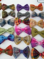 Harris Tweed dog collar Bow ties FREE POSTAGE