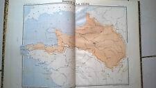 """Livre Ancien Rare Atlas """"cours gradué de géographie Ecole Monge E Laurain 1877"""""""