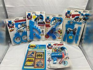 Vintage Batman Handcuffs, watergun, sparkle gun, survival kit, flash gun, puzzle