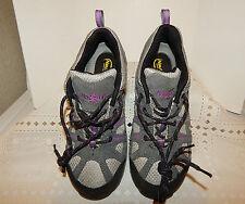 Women's NAUTILUS N1372 Safety Toe Sneaker, Lt. GREY & LAVENDER Sz 8W- USED