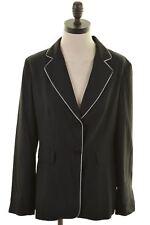 MOSCHINO Womens 2 Button Blazer Jacket Size 14 Medium Black Acetate Viscose