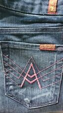 Brand New 7 for All Mankind jeans size 24 Inseam 33 Pink A Pocket Bootcut Dark