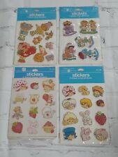 VTG Strawberry Shortcake Puffy Vinyl Paper Stickers Lot Nostalgic Scrapbook NIP