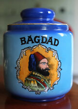 Vintage Bagdad Tobacco Jar / Humidor - With Lid & Factory Label