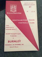Northampton Town v Burnley 1965/66 Programme