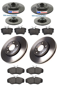 FOR Vauxhall Vivaro FRONT & REAR BRAKE DISCS PADS WITH ABS AND WHEEL BEARINGS