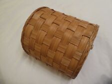 Wooden Semi-Circular Waste Basket