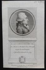 ESTAMPE COMTE DE DIEUSIE DÉPUTÉ DE LA CONSTITUANTE 1789 - original