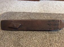 "Primitive Antique Vice Wood Clamp for Repairing Stitching Leather~29.5"" long"