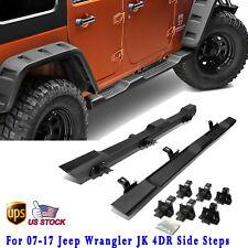 2X For 2007-2017 Jeep Wrangler JK Unlimited 4Dr Running Board Side Step Nerf Bar