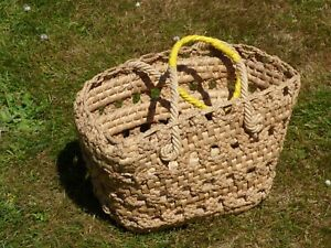Vintage Raffia Basket - 1960's Italian - Very Well Made & Good For Everyday Use.