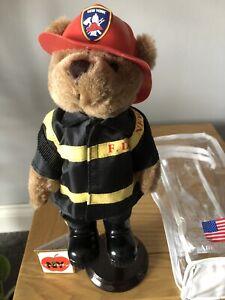 American Hero New York Fire Department Teddy Bear 9/11 Commemoration 23cm Tall