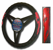 Standing Lady Red Steering Wheel Cover 121656-2